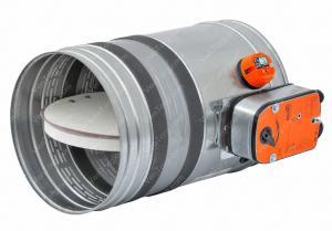 Клапан круглый противопожарный канальный 125 мм