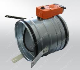 Купить клапан круглый противопожарный канальный 225 мм