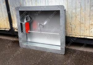 Клапан дымоудаления Д (С) 400 x 400 мм цена со скидкой