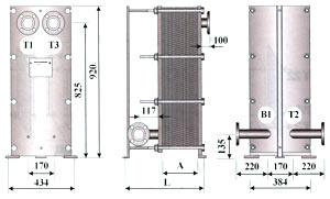 Трёхходовой теплообменник - ТОР-15