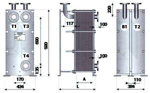 Двухходовой теплообменник для ГВС с циркуляционной линией - ТОР-15