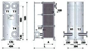 Трехходовой теплообменник для ГВС с циркуляционной линией - ТОР-15