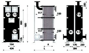 Трехходовой теплообменник для ГВС - ТОР-15