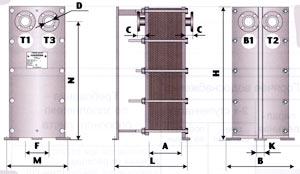 ТОР-40, ТОР-41 - двухходовой теплообменник