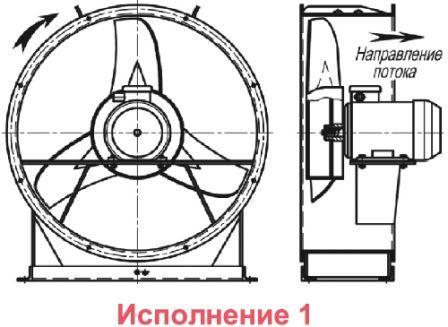 ВО 06-300 вентилятор осевой исполнение 1