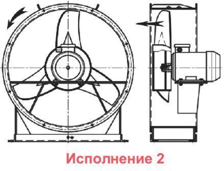 ВО 06-300 вентилятор осевой исполнение 2