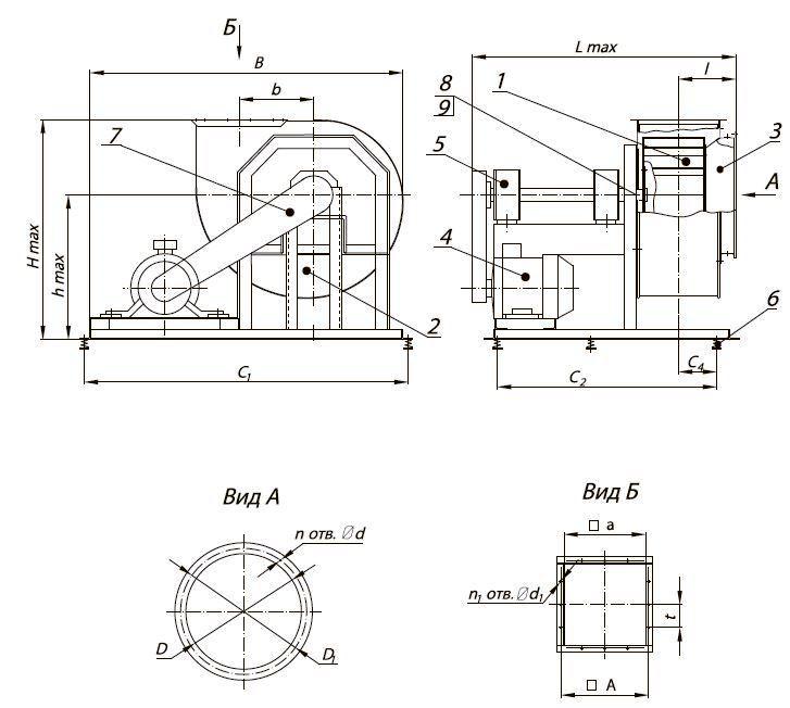 Вентилятор ВР 80-75 схема 5