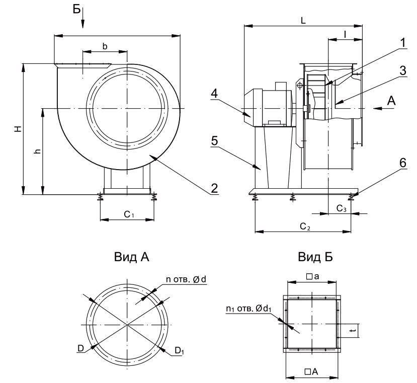 Вентилятор ВР 80-75 схема 1