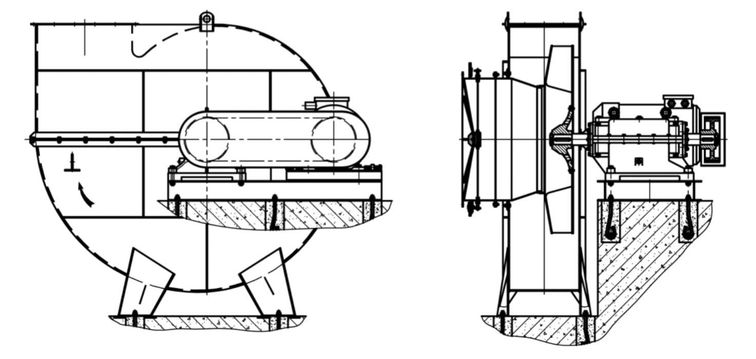 Дымососы и тягодутьевые машины варианты конструктивного исполнения 5 типоразмеров №6,3-13; №13,5-17
