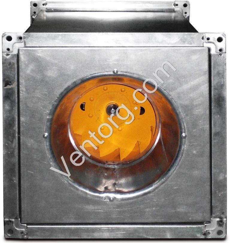 Канальный промышленный вентилятор в квадратном корпусе