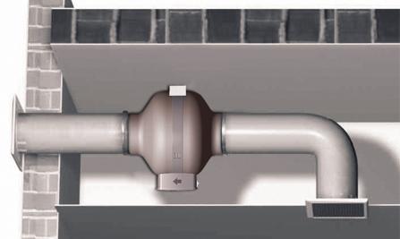 Круглый канальный вентилятор