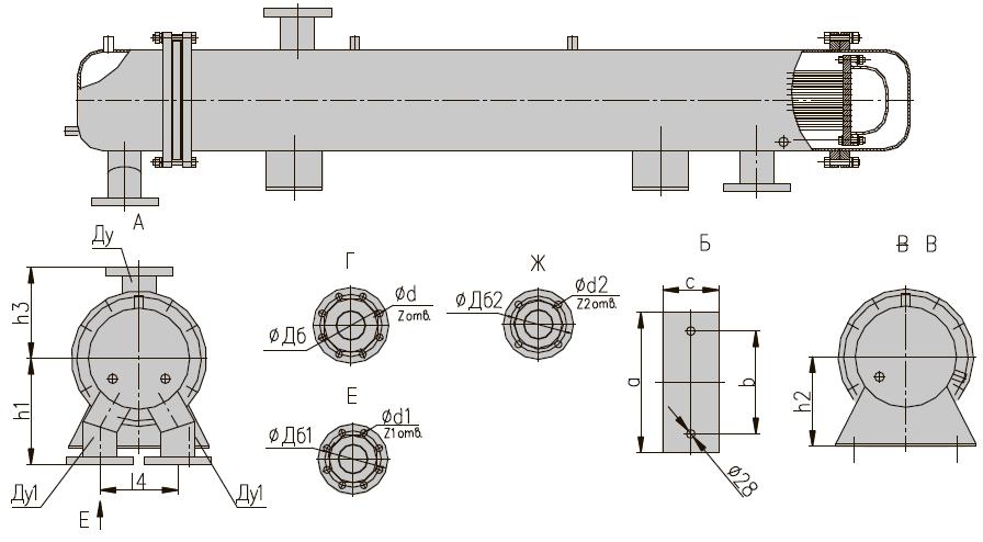 ПП 1-71-7 II кожухотрубный пароводяной подогреватель