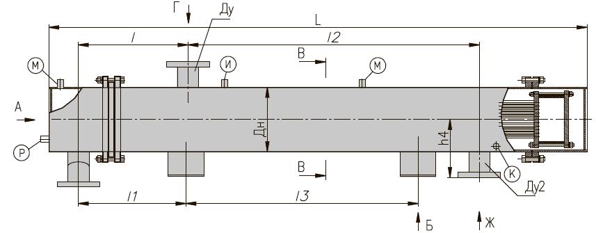 ПП 2-11-7-II кожухотрубный пароводяной подогреватель