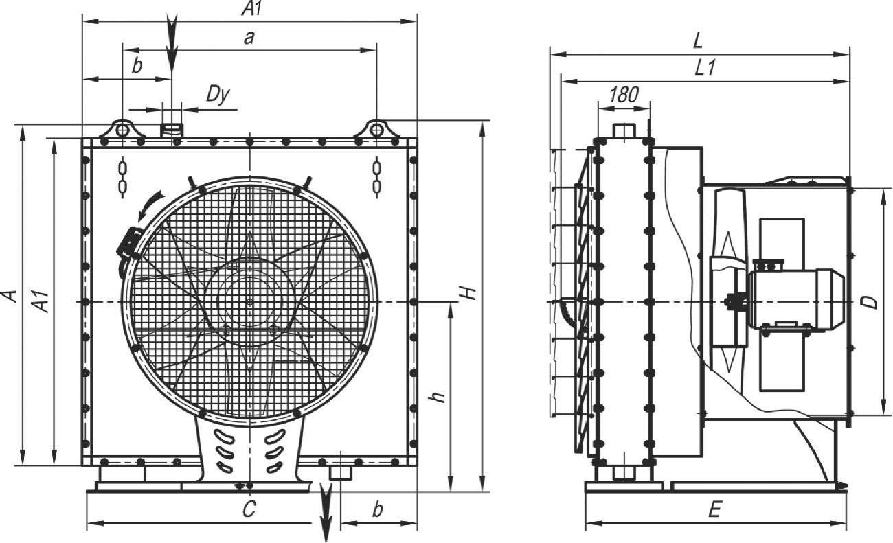 АО 2-3П габаритные и присоединительные размеры