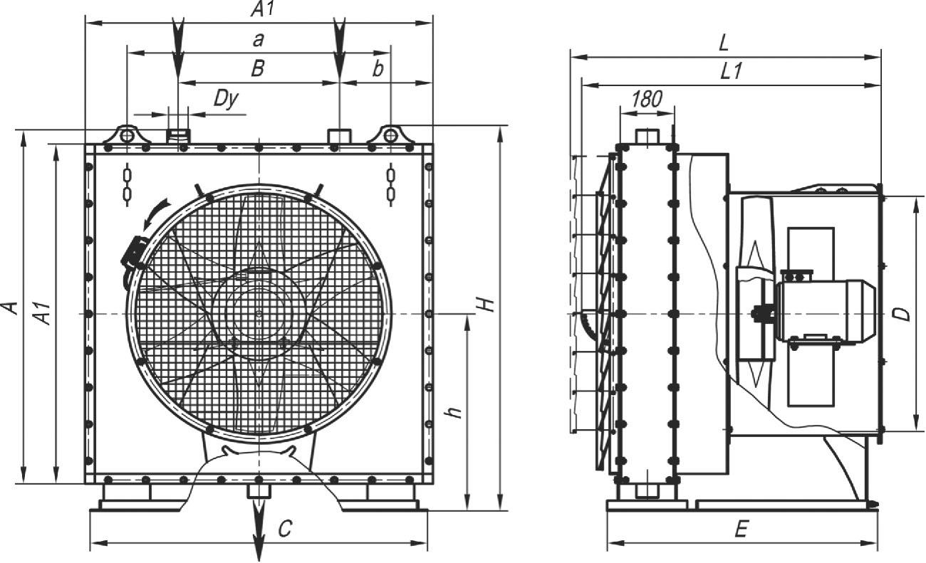 АО 2-25П габаритные и присоединительные размеры