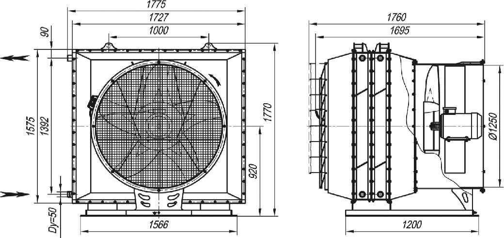 АО 2-50 габаритные и присоединительные размеры