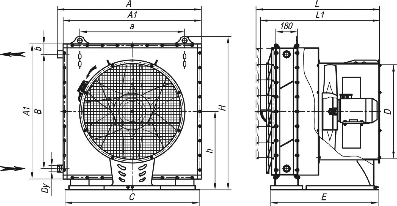 АО 2-10 габаритные и присоединительные размеры