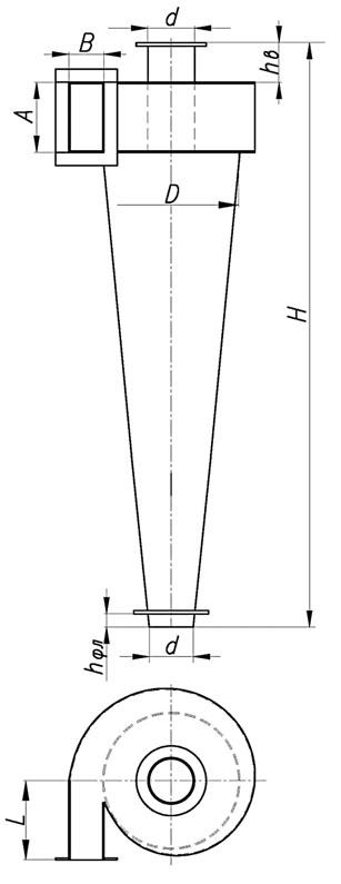 ЦН-33-600 размеры