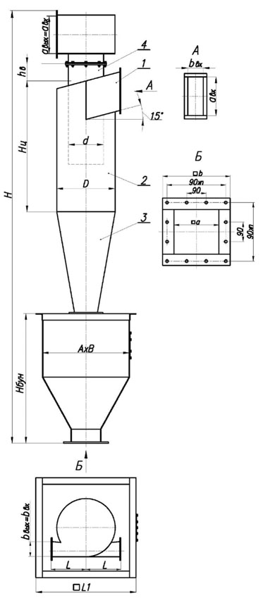 Циклон пылеулавливатель ЦН-15-600x1УП