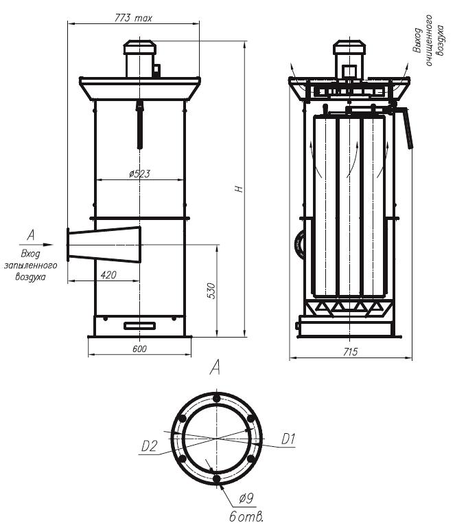 Пылеулавливающий агрегат ЗИЛ-1600