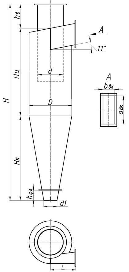 Пылеуловитель циклон ЦН-11-500
