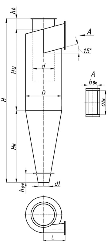 Пылеуловитель сухого типа ЦН-15-550