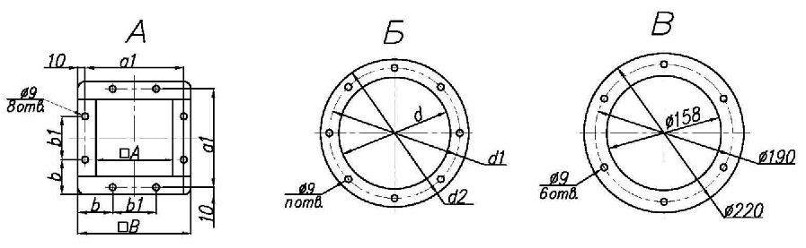 Присоединительные размеры циклона УЦ-38-850