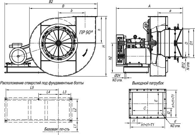 ДН-8, ВДН-8 характеристики и размеры