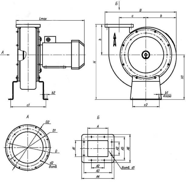 Вентилятор ВР 12-26-2,5 с чугунной улитой