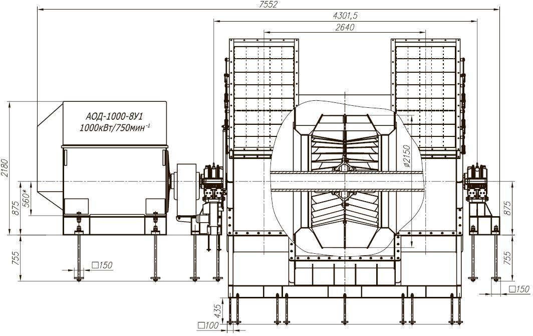 Д-21,5х2 габаритные, присоединительные и установочные размеры