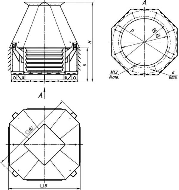 ВКРC-12,5 ДУ габаритные и присоединительные размеры