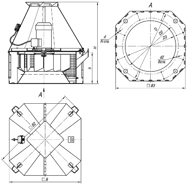 ВКРC-5,6 ДУ габаритные и присоединительные размеры