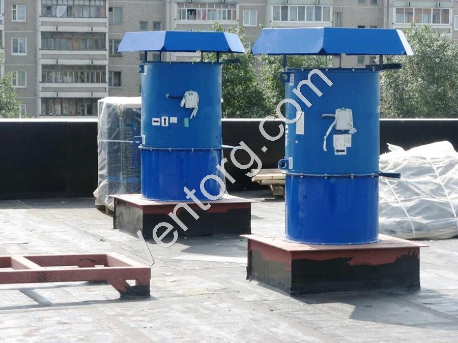 Промышленный крышный вентилятор подпора воздуха ВКОП 30-160-10