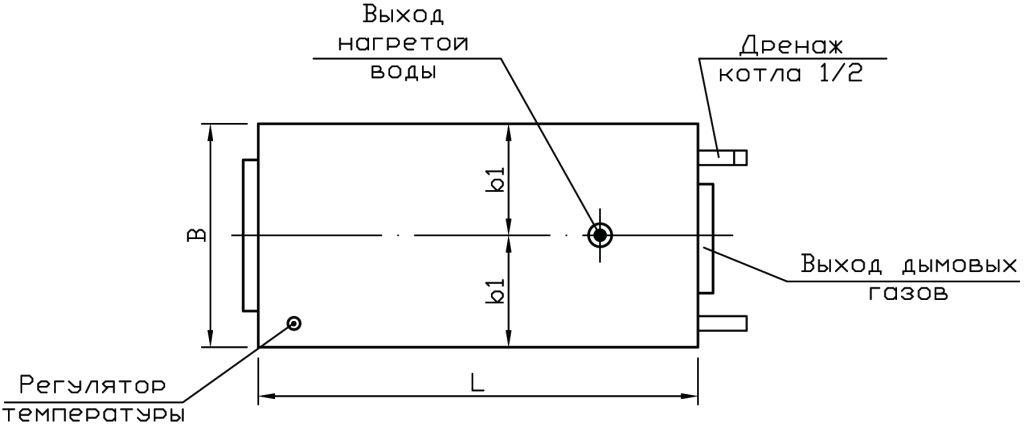 Отопление дома котлом Буржуй-К МОДЕРН-12