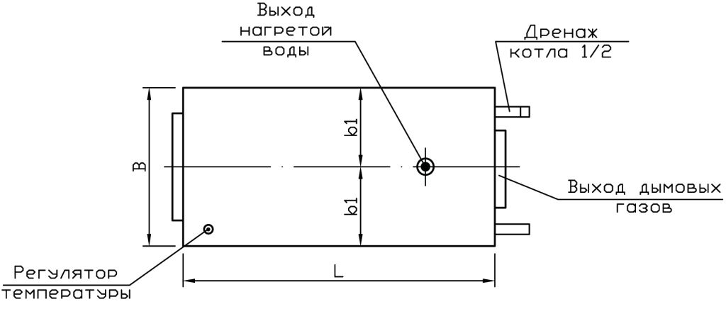 Котел на дровах Буржуй-К МОДЕРН-24
