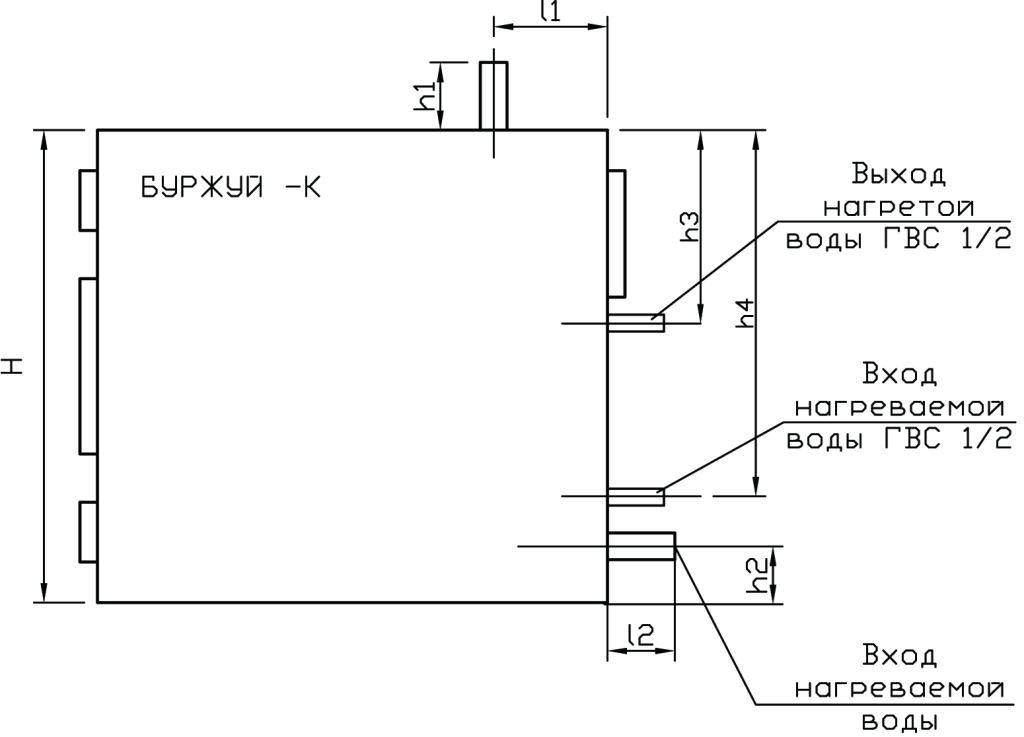 Буржуй-К СТАНДАРТ-10 газогенераторный котел