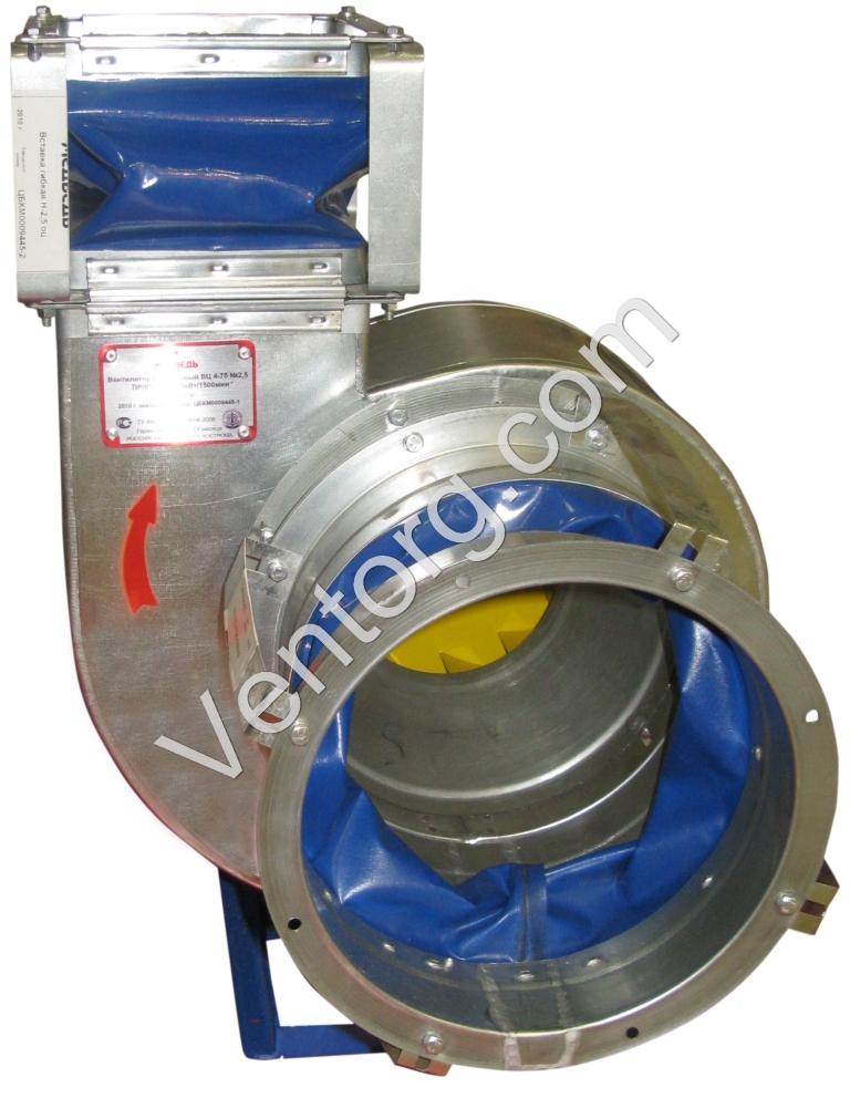 ВЦ 4-75-10 вентиляторы из нержавеющей стали