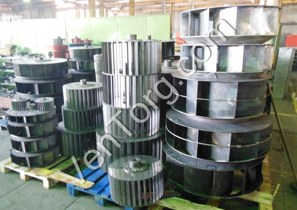 Рабочие колеса для вентиляторов ВР 300-45 и другие